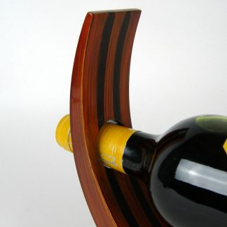 Tiger's Eye wooden lacquer wine holder