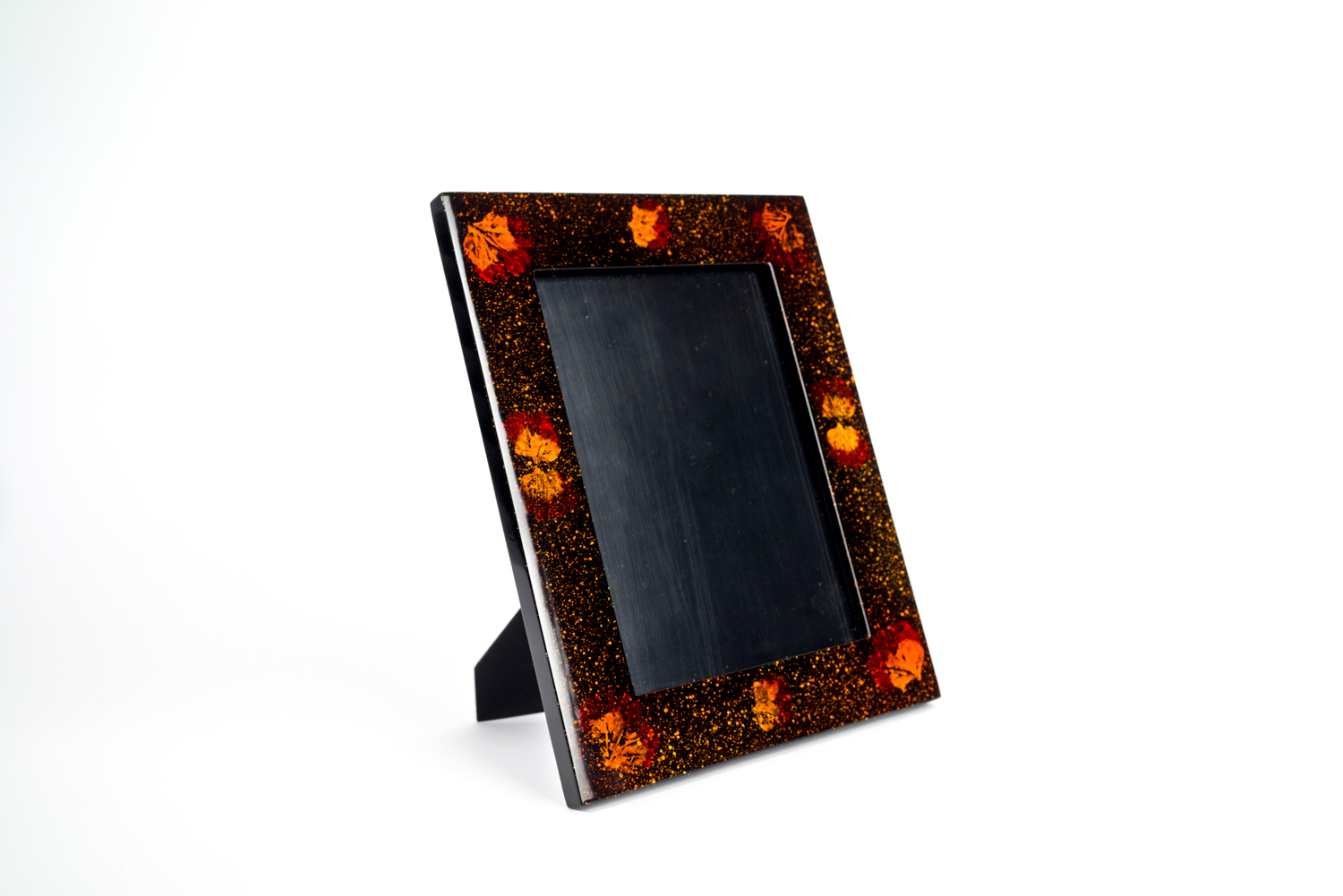 Pressed flower wooden lacquer photo frame