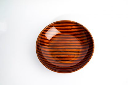 Tiger's Eye wooden lacquer serving bowl