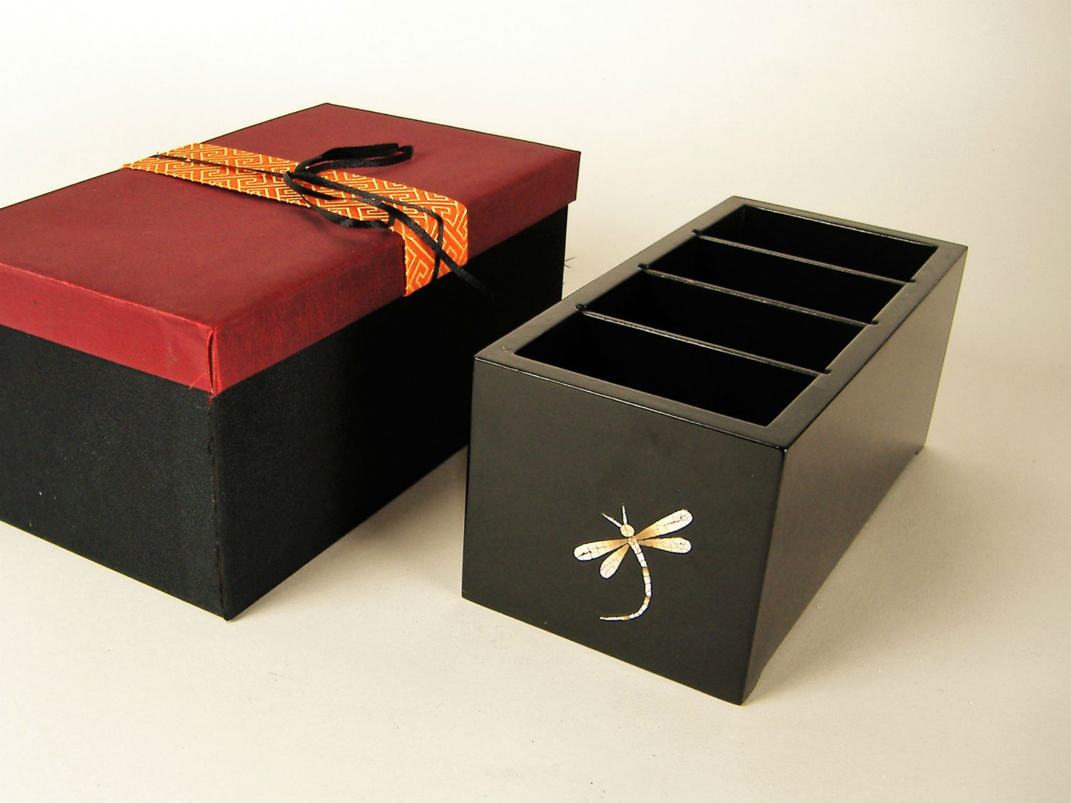 c34457e74 Dragonfly wooden lacquer remote control box | Silkwood Traders