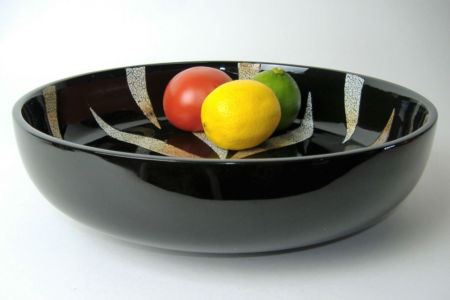 Eggshell Mosaic Decorative Wooden Lacquer Fruit Bowl