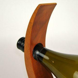 natural wood wine or olive oil bottle holder
