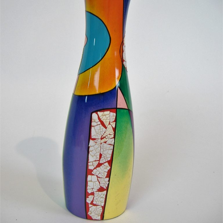 Picasso wooden lacquer vase