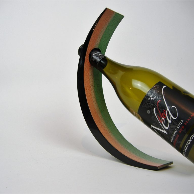Earth tones wooden lacquer wine holder