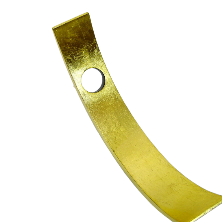 Metallic gold wooden lacquer wine holder