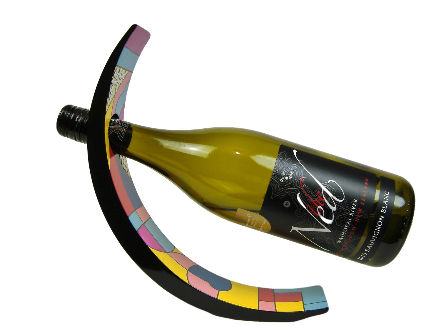 Picasso wooden lacquer wine holder