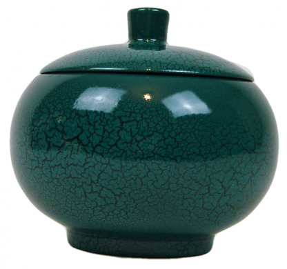 Turquoise crackle wooden lacquer trinket box