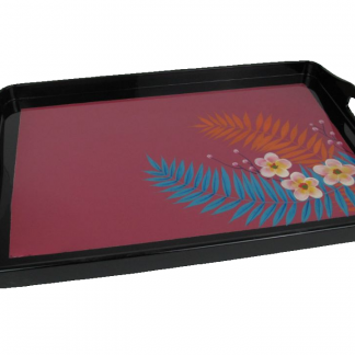 Palm leaf wooden lacquer tray