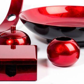 Red metallics - zing up your room!