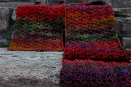 Setting Sun crochet scarf Jewelspun aran