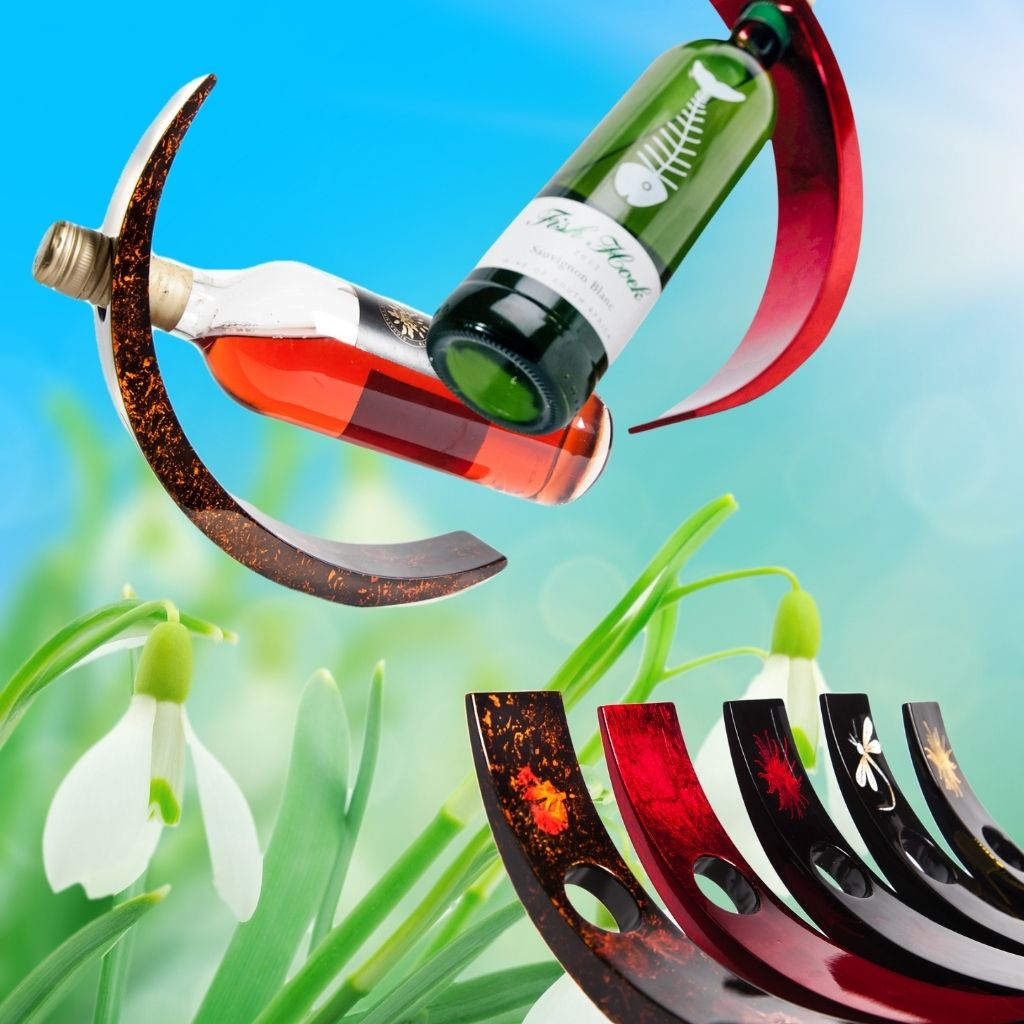 wooden lacquer wine bottle holders